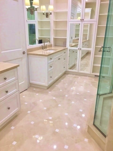 Tile flooring in a bathroom - Kitchen Remodeling In Chicago